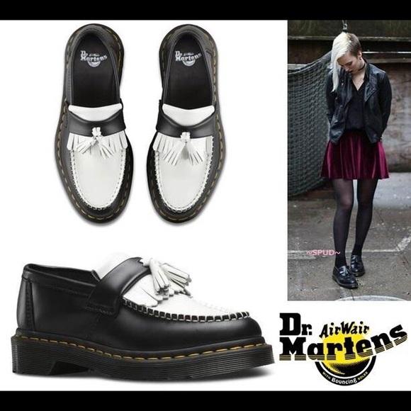 d1d670bf1dd Dr. Martens Shoes - Dr.Martens Adrian black+White slip on loafers
